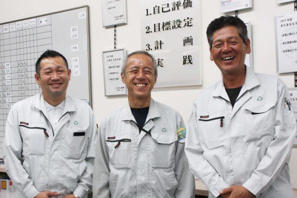 小西秀和(左)/上田孝(中央)/高田俊夜(右)